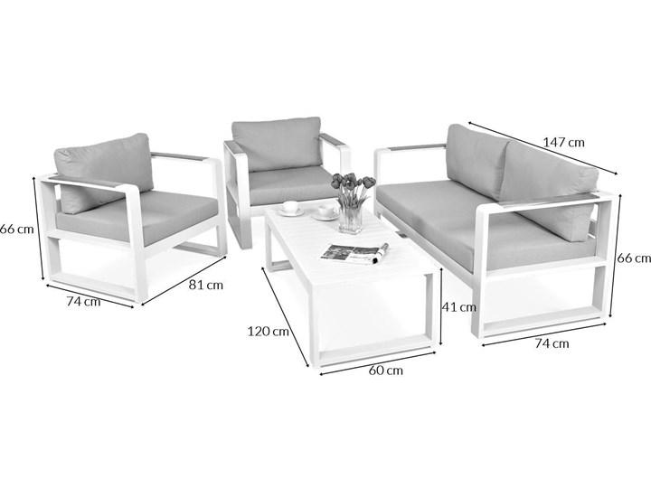 Aluminiowy komplet wypoczynkowy Meblobranie na taras Panama Grey Aluminium Zawartość zestawu Stolik