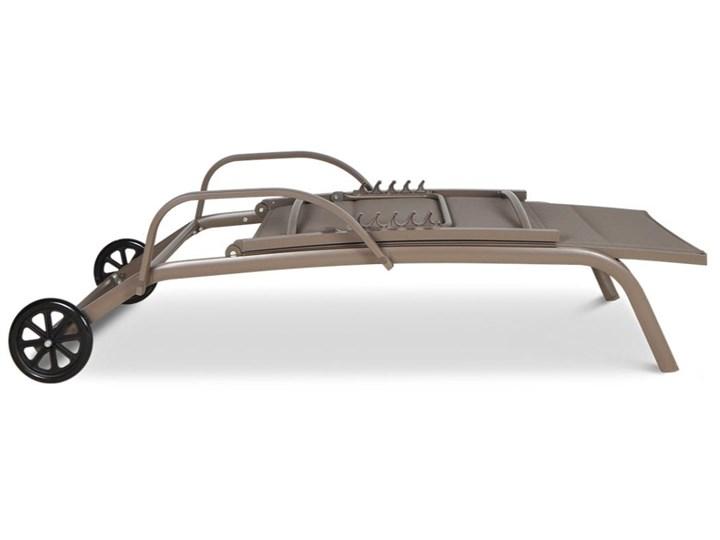 Meblobranie Beżowy leżak ogrodowy do opalania Majorka Aluminium Leżanki Kategoria Leżaki ogrodowe