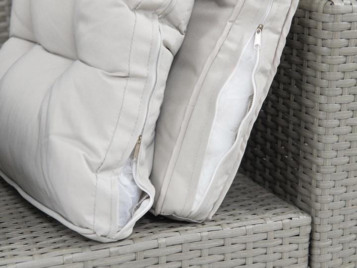 Meblobranie Duży zestaw narożny na taras z technorattanu Topiano Plus Grey & Ivory Zestawy obiadowe Zestawy wypoczynkowe Styl Nowoczesny Kategoria Zestawy mebli ogrodowych