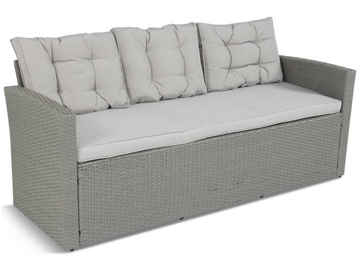 Meblobranie Duży zestaw narożny na taras z technorattanu Topiano Plus Grey & Ivory Zestawy wypoczynkowe Zestawy obiadowe Zawartość zestawu Fotele
