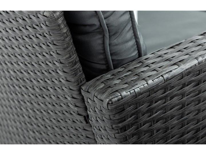 Meblobranie Ciemnoszary narożnik tarasowy z technorattanu Topiano Plus Antracite Zestawy modułowe Zestawy wypoczynkowe Zestawy obiadowe Zawartość zestawu Fotele