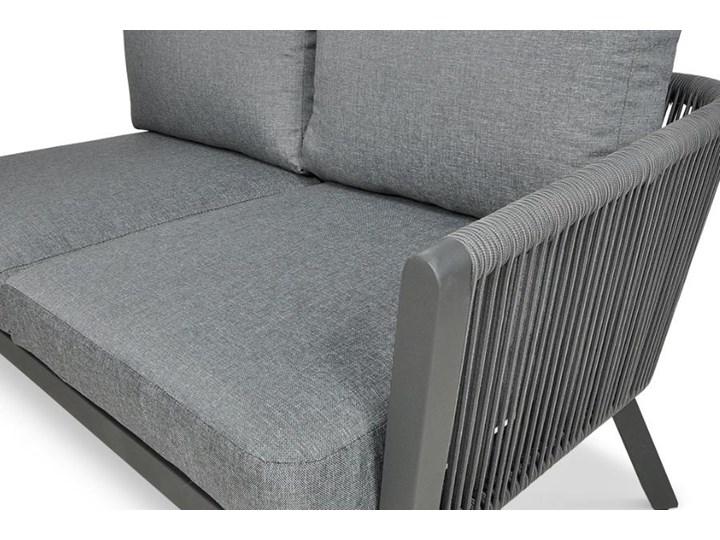 Meblobranie Nowoczesny narożnik ogrodowy szary z fotelem Salvador Dining Aluminium Zestawy modułowe Zawartość zestawu Sofa Zestawy wypoczynkowe Zawartość zestawu Stolik