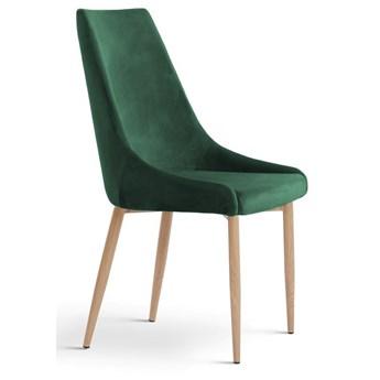 Krzesło LUSILL ST zielony aksamit / dąb