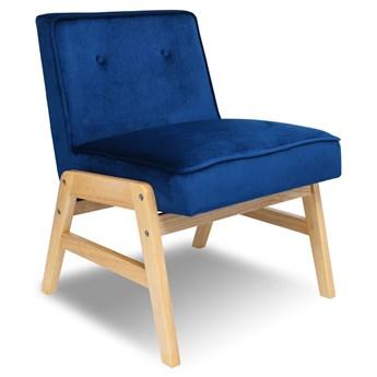 Fotel vintage ONTARIO PLUS VELVET granatowy