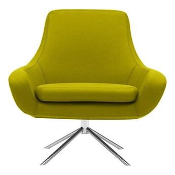 Żółty fotel obrotowy Softline Noomi Swivel
