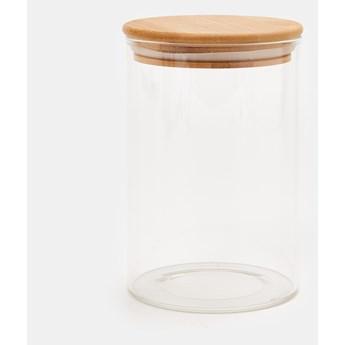Sinsay - Szklany pojemnik z pokrywką ⌀ 10,2x13 - Biały