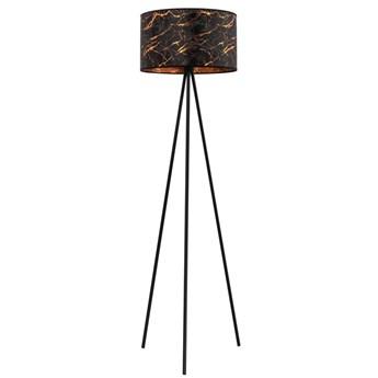 Czarno-złota lampa podłogowa glamour - S022-Torsa