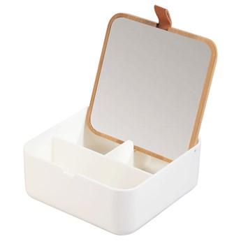 SELSEY Lusterko łazienkowe Kerinax z organizerem białe