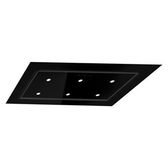 Okap sufitowy Mistral Super Slim Black 96 cm