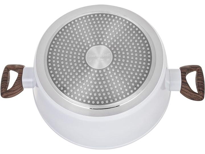 Garnki marmurowe na indukcję GierekHoff GH 1502 patelnia Tefal zestaw 16 elementów Białe Aluminium Kategoria Zestawy garnków i patelni