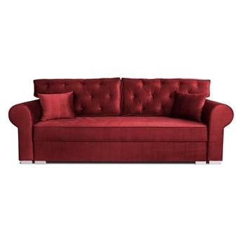 Sofa pikowana do salonu MILANO Czerwony