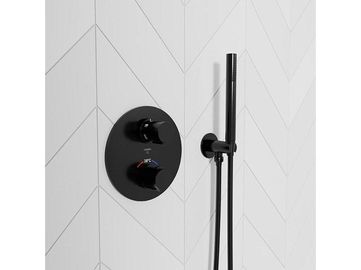 Bateria prysznicowa Steinberg Seria 100 4123 1 S, element zewnętrzny, termostat, czarny matowy Bateria ścienna Wykończenie Mosiądz