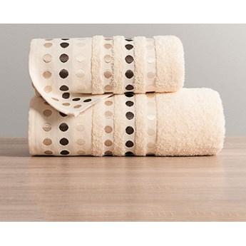 PUNTOS Ręcznik, 70x140cm, kolor 391 kremowy PUNTOS/RB0/391/070140/1
