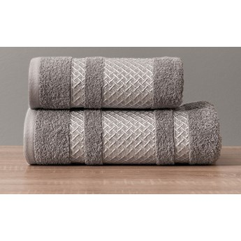 LIONEL Ręcznik, 70x140cm, kolor 006 ciemny szary ze srebrną bordiurą LIONEL/RB0/006/070140/1