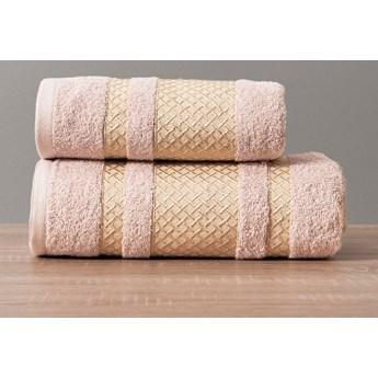 LIONEL Ręcznik, 70x140cm, kolor 019 pudrowy ze złotą bordiurą LIONEL/RB0/019/070140/1