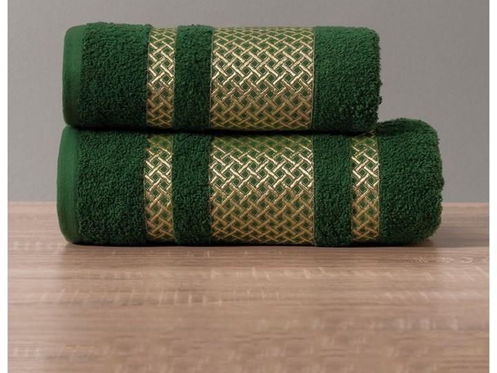LIONEL Ręcznik, 70x140cm, kolor 002 ciemno zielony butelkowy ze złotą bordiurą LIONEL/RB0/002/070140/1 Bawełna 70x140 cm Kategoria Ręczniki