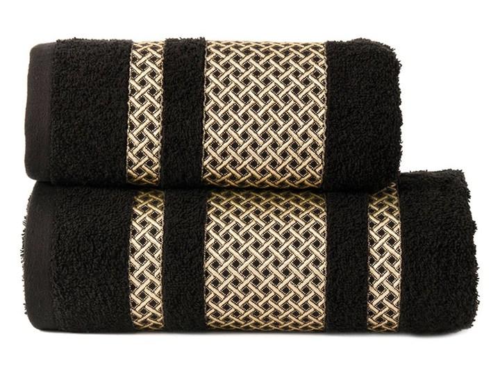 LIONEL Ręcznik, 70x140cm, kolor 256 czarny ze złotą bordiurą LIONEL/RB0/256/070140/1 70x140 cm Bawełna Kategoria Ręczniki