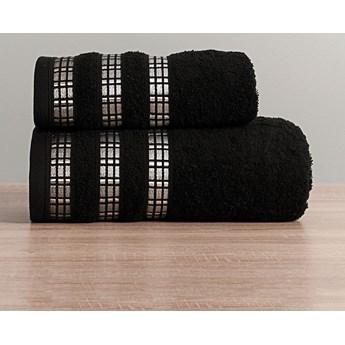 LUXURY Ręcznik, 50x90cm, kolor 156 czarny LUXURY/RB0/156/050090/1