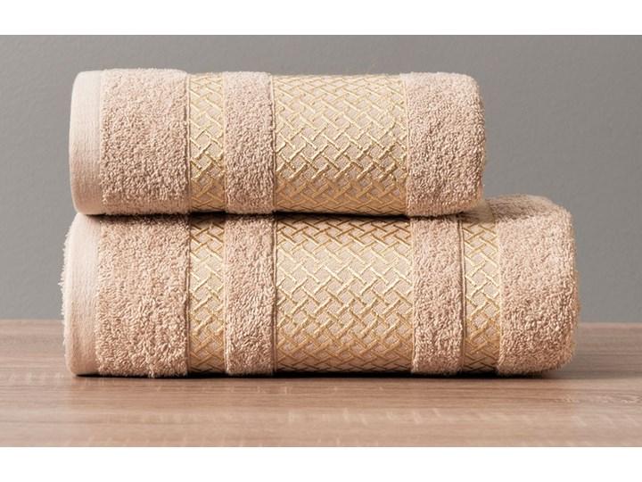 LIONEL Ręcznik, 50x90cm, kolor 790 beżowy ze złotą bordiurą LIONEL/RB0/790/050090/1 50x90 cm Bawełna Kategoria Ręczniki