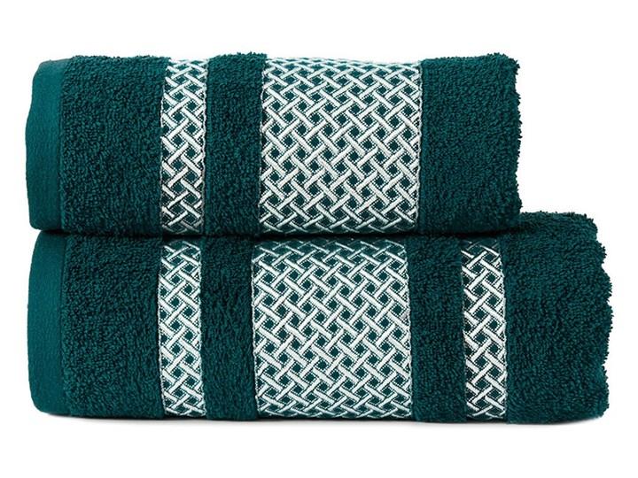 LIONEL Ręcznik, 50x90cm, kolor 101 ciemno turkusowy petrol ze srebrną bordiurą LIONEL/RB0/101/050090/1 Bawełna 50x90 cm Kategoria Ręczniki