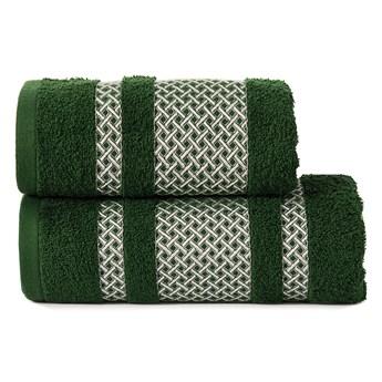LIONEL Ręcznik, 50x90cm, kolor 202 ciemno zielony butelkowy ze srebrną bordiurą LIONEL/RB0/202/050090/1