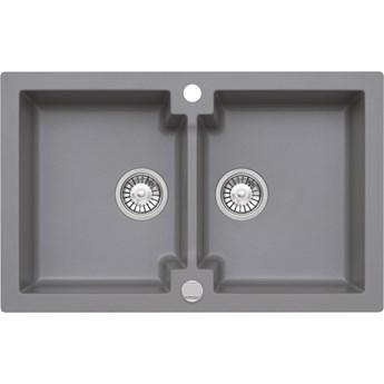 Zlewozmywak granitowy Kernau KGS A 80 2B Grey Metallic