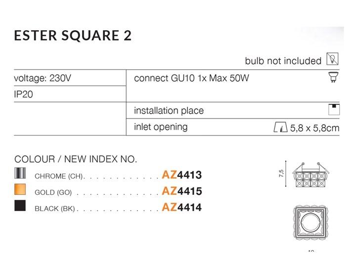 ESTER SQUARE 2 Kategoria Oprawy oświetleniowe
