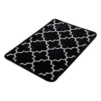 Czarno-biały dywanik łazienkowy Chilai Dark Rustic, 60x40 cm
