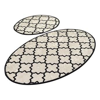 Zestaw 2 owalnych dywaników łazienkowych Chilai Rustic