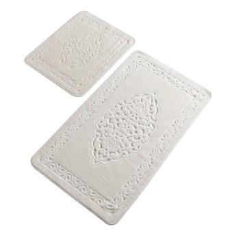 Zestaw 2 białych prostokątnych dywaników łazienkowych Chilai Orient
