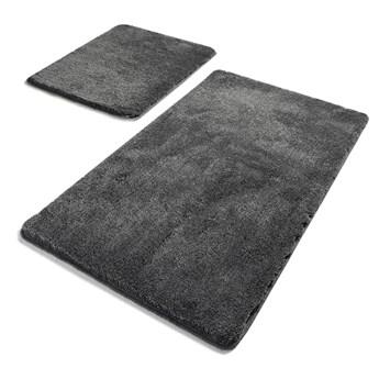 Zestaw 2 ciemnoszarych prostokątnych dywaników łazienkowych Chilai