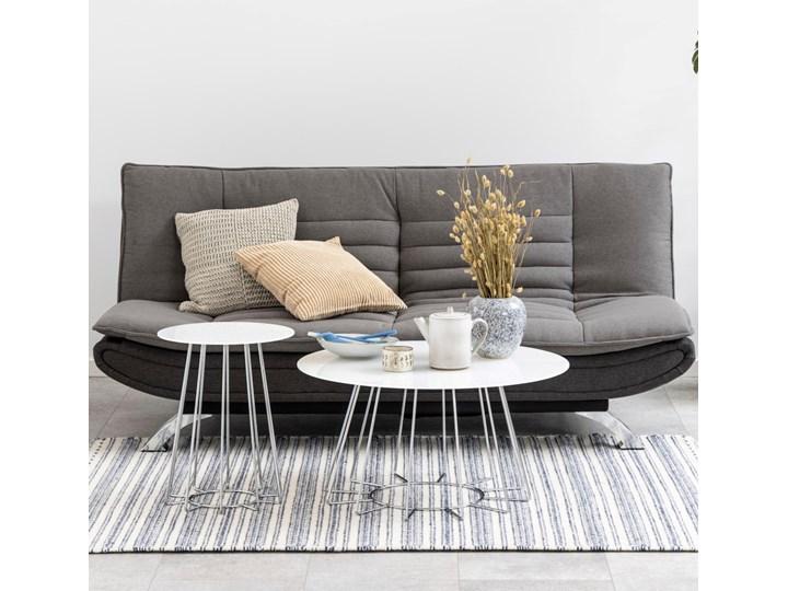 Sofa rozkładana Eveline 196x98-123 cm szara / ciemnoszara Stała konstrukcja Głębokość 98 cm Kolor Szary