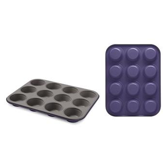 Fioletowa stalowa forma na 12 muffinów Bon Ton Guardini