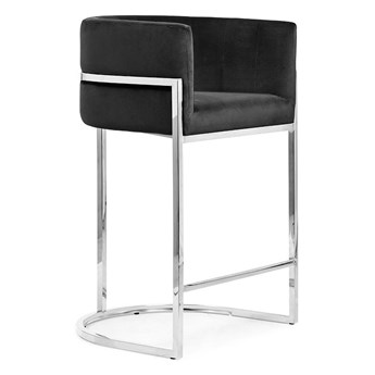 Hoker 68' srebrne nogi Casino  / czarny velvet ST