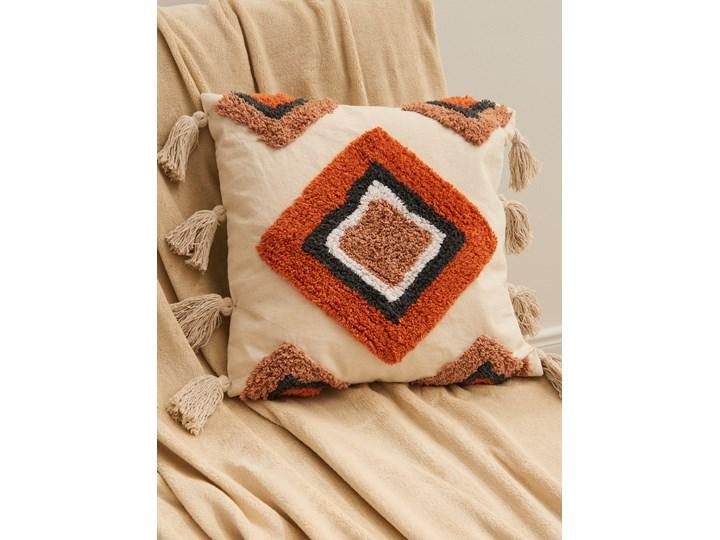 Sinsay - Poszewka na poduszkę - Kremowy Prostokątne 45x45 cm Poszewka dekoracyjna Pomieszczenie Sypialnia
