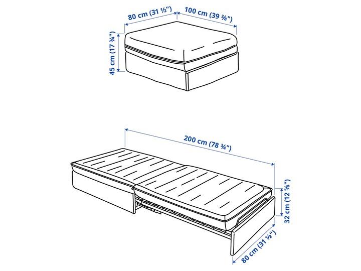 IKEA VALLENTUNA Moduł sofy rozkładanej, Kelinge rdzawy, Szerokość: 80 cm Głębokość 100 cm Modułowe Funkcje Z funkcją spania