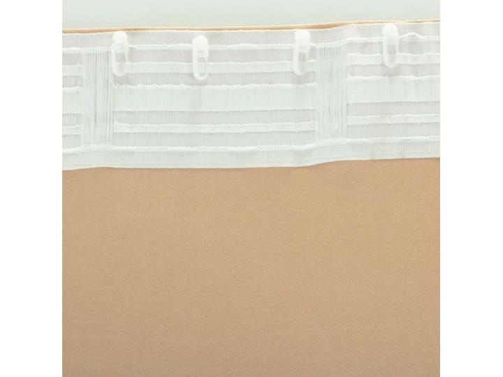 Zasłona BASIC na taśmie marszczącej 140x260cm waniliowy beż 1 szt., 140 cm x 260 cm Mocowanie Szelki 140x260 cm Poliester Kolor Beżowy