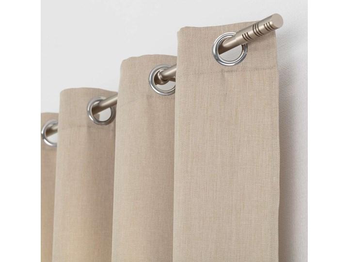 Zasłona BASIC na kółkach 140x280cm piaskowy beż 1 szt., 140 cm x 280 cm 140x280 cm Poliester Kolor Beżowy