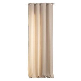 Zasłona BASIC na kółkach 140x280cm piaskowy beż 1 szt., 140 cm x 280 cm