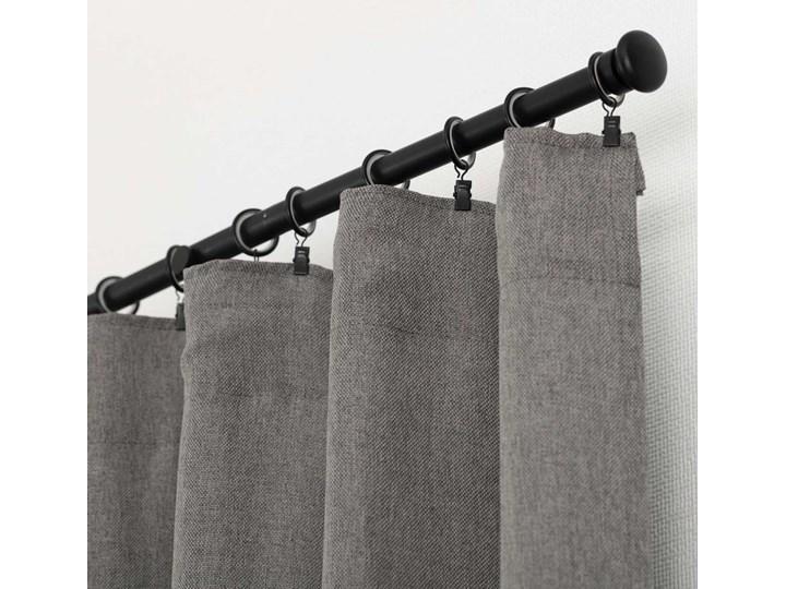 Zasłona BASIC na taśmie marszczącej 140x300cm szary 1 szt., 140 cm x 300 cm Mocowanie 140x300 cm Poliester Mocowanie Szelki