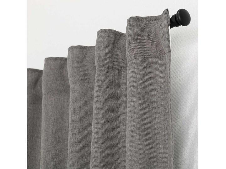 Zasłona BASIC na taśmie marszczącej 140x300cm szary 1 szt., 140 cm x 300 cm 140x300 cm Poliester Mocowanie