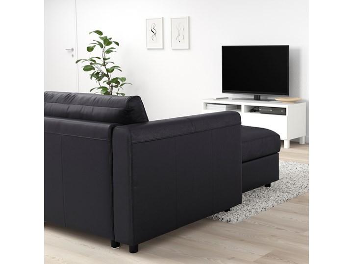 IKEA VIMLE Narożna sofa rozkł. 5o z szezl, Grann/Bomstad czarny, Wysokość łóżka: 53 cm Funkcje Z funkcją spania