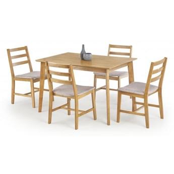 Zestaw drewniany CORDOBA stół + 4 krzesła dąb HALMAR
