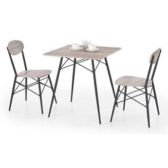 Zestaw KABIR kwadrat stół + 2 krzesła dąb san remo HALMAR
