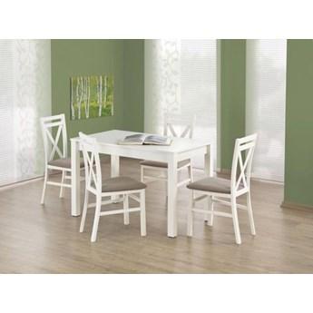 Zestaw stół KSAWERY i 4 krzesła DARIUSZ biały HALMAR