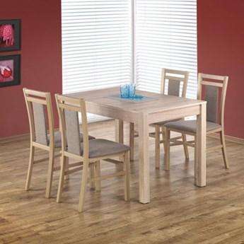 Zestaw stół MAURYCY i 4 krzesła HUBERT dąb sonoma HALMAR