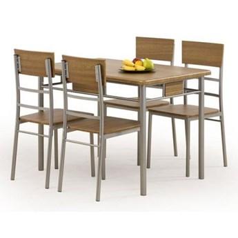 Zestaw mebli NATANIEL stół + 4 krzesła HALMAR