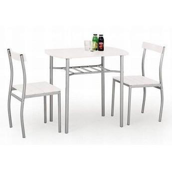 Zestaw LANCE stół + 2 krzesła biały HALMAR