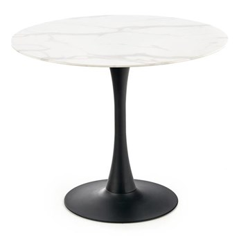 Stół AMBROSIO 90x90 biały marmur HALMAR