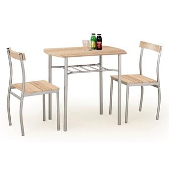 Zestaw LANCE stół + 2 krzesła dąb sonoma HALMAR